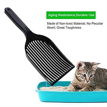 UEETEK Scoop de Litière pour Animaux de Compagnie,Pelles à Litière à Manches Longues pour Animalerie Kitty Chat Chien Tamiser la Pelle