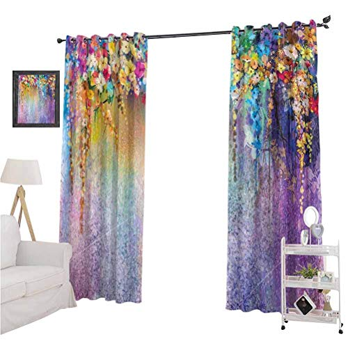 Discover Bargain nooweihomeWatercolor Flower Home Decor Best Home Fashion Thermal Insulated Bla...
