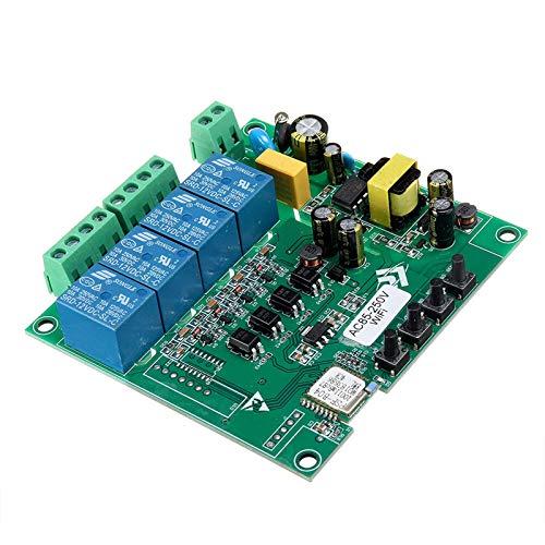 Placa ControladoraMódulo WiFi De 4 Canales De Relé Remoto De Punto De Conmutación Inteligente De Control 10A Módulo De Fuente De Alimentación