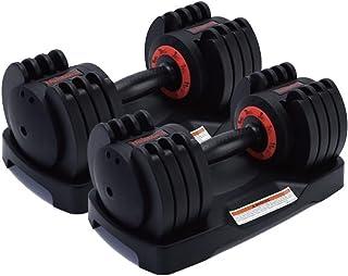 ダンベル 可変式 20kg 2個セット 40kg 可変式ダンベル アジャスタブル 簡単重量調整