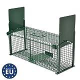 Trampa para Animales Vivos - Moorland Safe 5067 - 61 x 21 x 23 cm - Ideal para conejos, martas, gatos y zorros