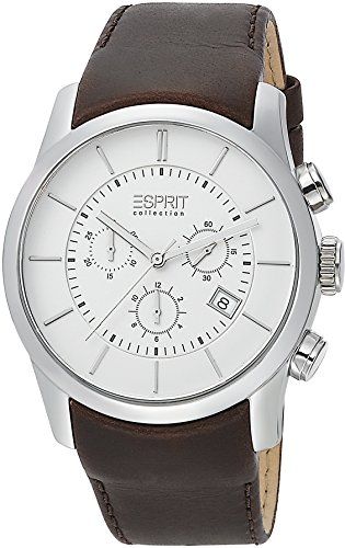 Esprit Collection Herren-Armbanduhr Eros Chrono Chronograph Quarz Leder