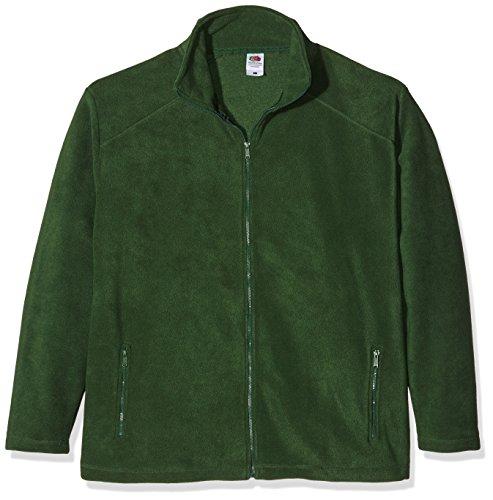 Fruit of the Loom Zip Front Polaire, Vert (Bottle Green), XXL Homme