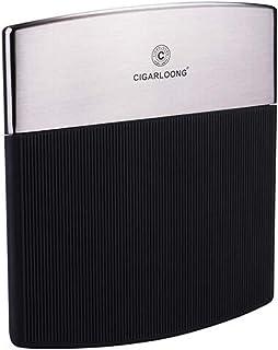 LONGWDS Caja de cigarro Caso de Cigarrillos, 10 Paquetes de Ultra-Delgado de Acero Inoxidable de los Hombres de portátil C...