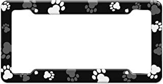Graphics and More Blank Paw Print Dog Cat Pattern License Plate Frame