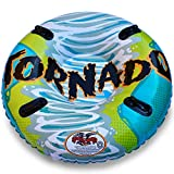 Flexible Flyer Tornado 2-Person Water & Snow Tube. Round Inflatable Pool Float & Double Sled