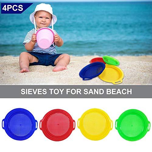 knowledgi Sand Sieve Toy - Juego de 4 tocadiscos