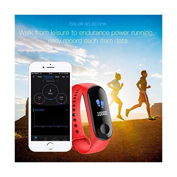 Fitness Trackers,Pantalla de Color Impermeable Monitor de Ritmo cardíaco Pulsera Inteligente Podómetro Contador de… 6