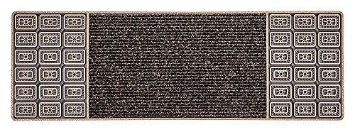 CarFashion 257809 Pur|CenterClean, Schmale Design Fussmatte für Innen und Aussen, Türmatte, Schmutzfangmatte, Bronze-Metallic Oberfäche, Größe ca. 75 x 25 cm