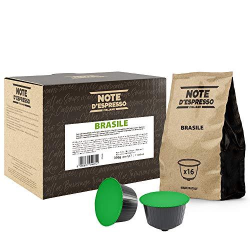 Note D'Espresso - Cápsulas de café de Brasil Exclusivamente Compatibles con cafeteras de cápsulas Nescafé* y Dolce Gusto* 7g (caja de 48 unidades)