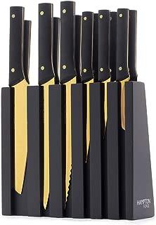 Hampton Forge HMC01B192E Knight Cutlery Block Set, Black