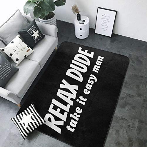 Relax Dude Teppich, super weich, personalisierbar, rutschfest, 203 x 147 cm