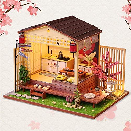 Miniatura Bricolaje De Casa De Muñecas Kit 3d Izakaya Model