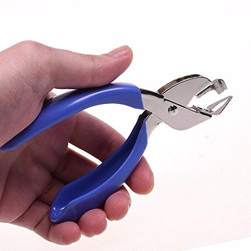 ODETOJOY Resistente quitagrapas profesional mano cómodo diseño ergonómico uñas Pull Out Extractor escuela oficina hogar herramienta rosa/azul-Color aleatorio