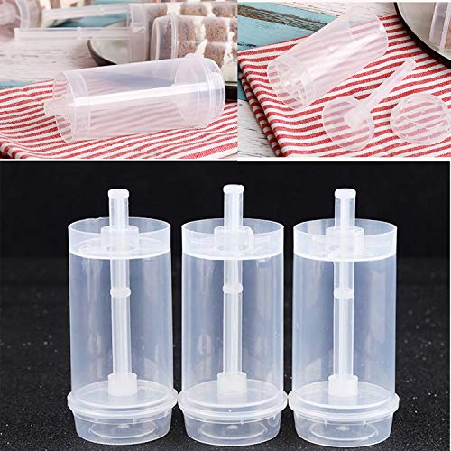 TWDRer 30PCS Cake Pop Push Ups Push Pop Containers,Clear Push Pops with Lids,Cake Pop Shooter