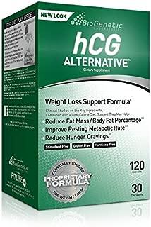 Biogentic Laboratories hCG Alternative Weight Loss Formula | 30 Day Supply (120 Capsules per Bottle) Bonus Diet Plan Included | Hormone-Free Stimulant-Free