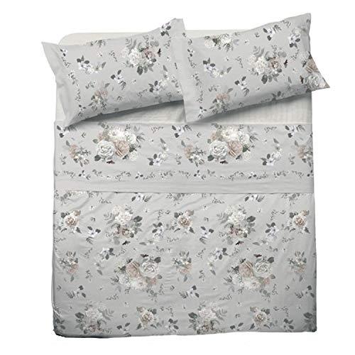 LOVETESSILE Juego de sábanas para cama de matrimonio maxi multifantasía algodón encima de las fundas - Variante 66, matrimonial