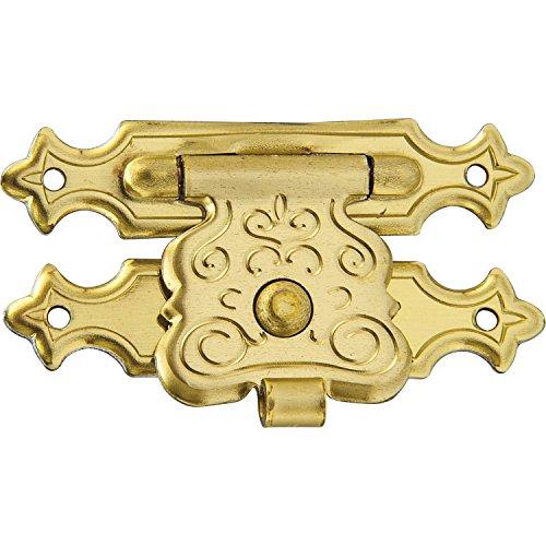 SECOTEC Kassetten-Verschluss | Schatullen-Verschluss  | Kästchen-Verschluss | 35x20 mm | gold-färbig | 1 Stück