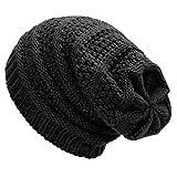 Dafunna Gorro de Invierno Unisex Crochet Gorro de Punto Elstico de Lana Tejer...