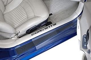 West Coast Corvette / Camaro Corvette Door Sill Ease Protectors : 1997-2004 C5 & Z06 (Clear w/Black Letters)