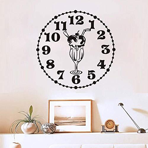Creatieve Voedsel Muurstickers Keuken Kamer Decoratie Klok Met Ijs Diy Vinyl Adesivo De Paredes Home Decals Art-44Cm_X_44Cm