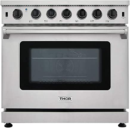 New Arrival 36 Inch Gas Range 6 Burners Cooktop 6.0 cu.ft Oven Thor Kitchen