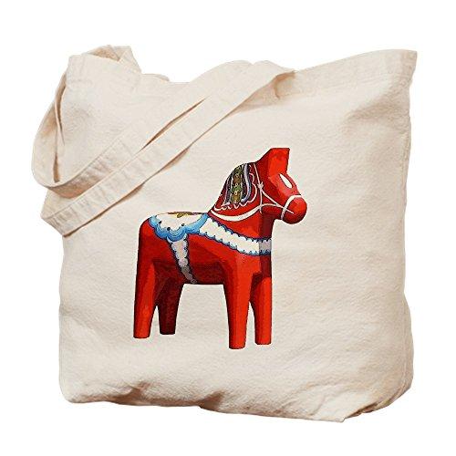 CafePress–Dala Pferd–Leinwand Natur Tasche, Reinigungstuch Einkaufstasche