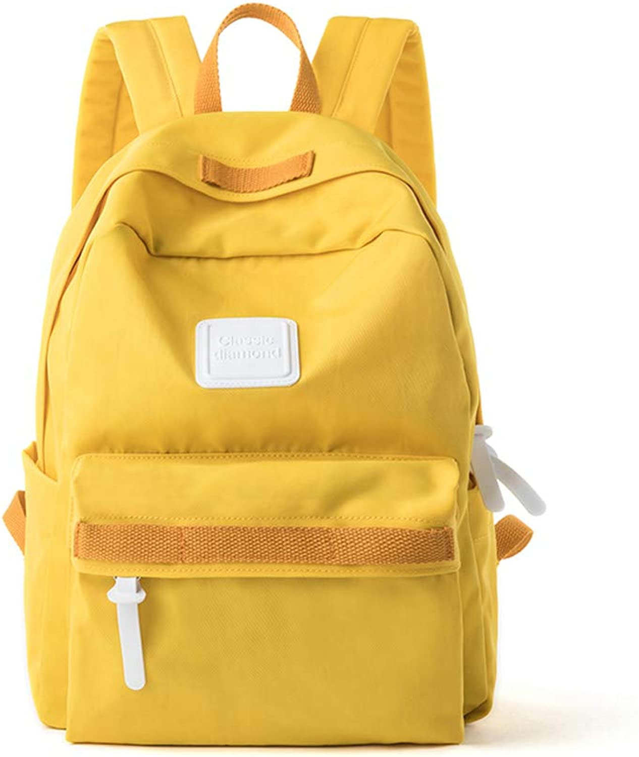 Backpack simple wild campus backpack spring and summer new girls school bag Korean version of college students tide female small fresh,yellow