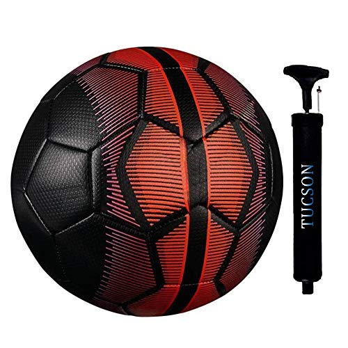 Tucson BLACK MERCURY Rubber Football, Size 5, (Red & Black)
