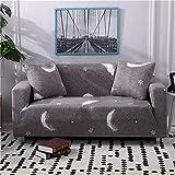 PPMP Cubierta de sofá geométrica elástica Moderna para Sala de Estar, Cubierta de sofá elástica para Sala de Estar, Cubierta de sofá Inferior para sofá, Cubierta de Silla A6 1 Plaza