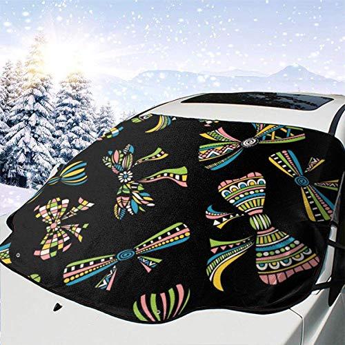 AEMAPE Ethnic 0 Coche Parabrisas Cubierta de Nieve Cubierta de Hielo Parabrisas Parasol Protector de Parabrisas Impermeable para Camiones SUV
