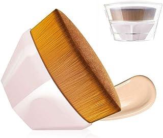 AUSELECT Foundation Makeup Brush Flat Top Kabuki Hexagon Face Blush Liquid Powder Foundation Brush for Blending Liquid, Cr...