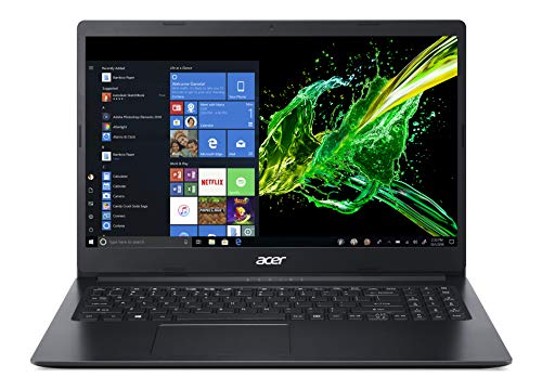 Acer Aspire 3 A315-22-956Q Notebook con Processore Dual-Core A9-9420e, Ram da 8 GB DDR4, 256 GB PCIe NVMe SSD, Display da 15.6' HD LED LCD, Scheda Grafica Radeon R5, Windows 10 Home, Nero