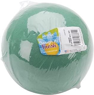 Floracraft Wet Foam Ball, 6-Inch, Green
