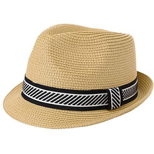 Mens Summer Hats Fedora Panama Beach Straw Kentucky Derby Havana Sun Packable Cuban Hawaiian Trilby Party Large