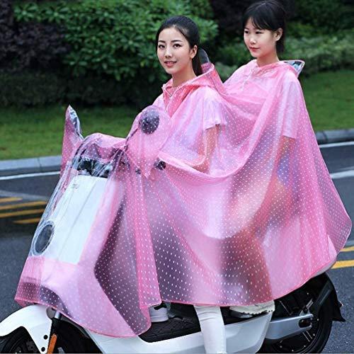 ZXL Regenmantel PVC transparante regenjas poncho elektrische motorfiets hogere dikte individuele volwassenen helm kristal regen paardrijden reflecterende mantel regenkleding (kleur: fruitgroen