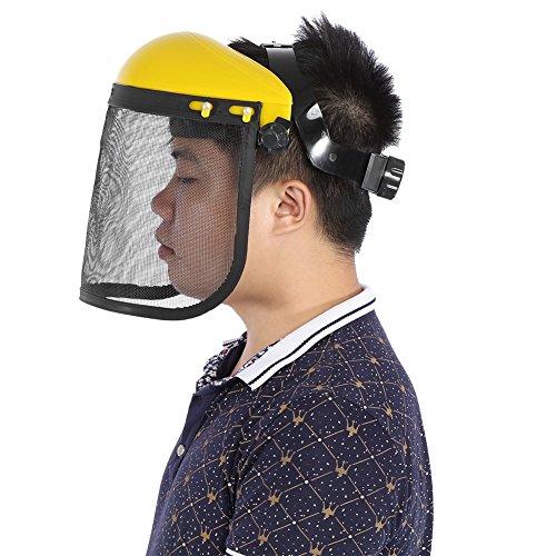 Sicherheitshelm-Hut mit Vollgesichtsmesh-Visier für Gartenscheite, Motorsense und Forstschutz