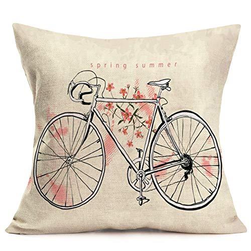 Fukeen Seaside - Funda de cojín para Bicicleta, diseño rústico, Color Azul