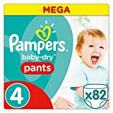 Pampers - Baby Dry Pants - Couches Taille 4 (8-15 kg/Maxi) - Mega Pack (x82 culottes)