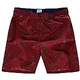 Shorts Pantalones Cortos Hombres Nuevos Pantalones Cortos De Playa De Secado Rápido para Hombre, Pantalones Cortos Informales con Estampado De Flores Delgadas, Bermudas para Hombre, XL Rojo