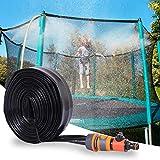 Bilisder Aspersor Trampolín, Aspersor de Parque Acuático para Niños Juego de Agua al Aire Libre Juguetes Diversión Summer Water Game Sprinkler Accesorios 15M