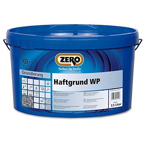 Preisvergleich Produktbild Zero Haftgrund WP Deckkraft Plus weiß Lösemittelfreie Grundierfarbe 2, 5L