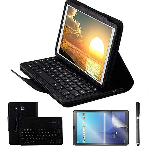 cover per tablet samsung tab e 9.6 REAL-EAGLE Custodia Galaxy Tab E 9.6 Bluetooth Tastiera con Screen Protector & Stylus