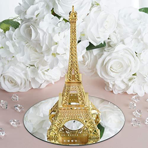 "Efavormart 10"" Eiffel Tower Birthday Banquet Event Wedding Party Event Tabletop Centerpiece High Detail Decoration - Gold"