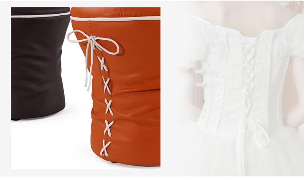 SLL- Tabouret de canapé Tabouret de tabouret en cuir de style européen avec repose-pieds créatif Fauteuils et Chaises (Color : D) E