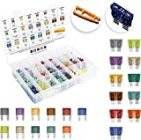 [UL Listed] MulWark 242pc ClearMark Assorted Standard Auto Car Truck Blade Fuses Set- 2A 3A 5A 7.5A 10A 15A 20A 25A 30A 35A 40A -ATC/ATO+ATM Mini-Automotive-Blade-Fuse Assortment Kit w/A Puller