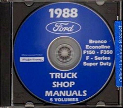 STEP-BY-STEP 1988 FORD PICKUP TRUCK REPAIR SHOP MANUAL CD F-Series, Super Duty,...