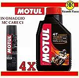 Motul 7100 10w60 olio motore moto 4 tempi litri 4 + OMAGGIO MC Care C1 Chain Clean