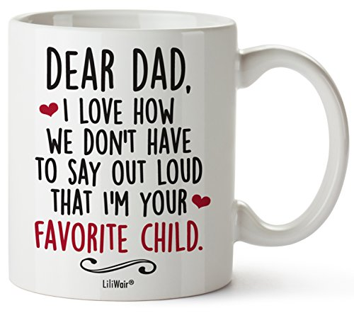 Christmas Fathers Day Gifts For Dad From Daughter Son, Father Coffee Mug for Husband from Wife Happy Funny First Birthday Mugs For Father, Daddy Stepdad Stepfather Step Dads Presents Cup From Kids