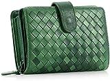 Autoks Damenmode handgemachte Krawatte gefärbt Schnalle Schaffell gewebt Leder Brieftasche Handtasche 14,0 cm * 3,0 cm * 10,0 cm